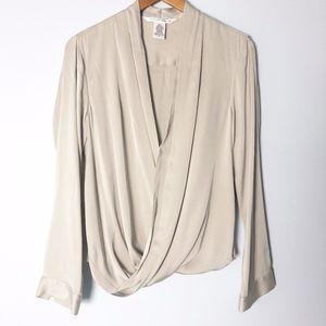 Diane Von Furstenberg Marci Silk Wrap Blouse Top